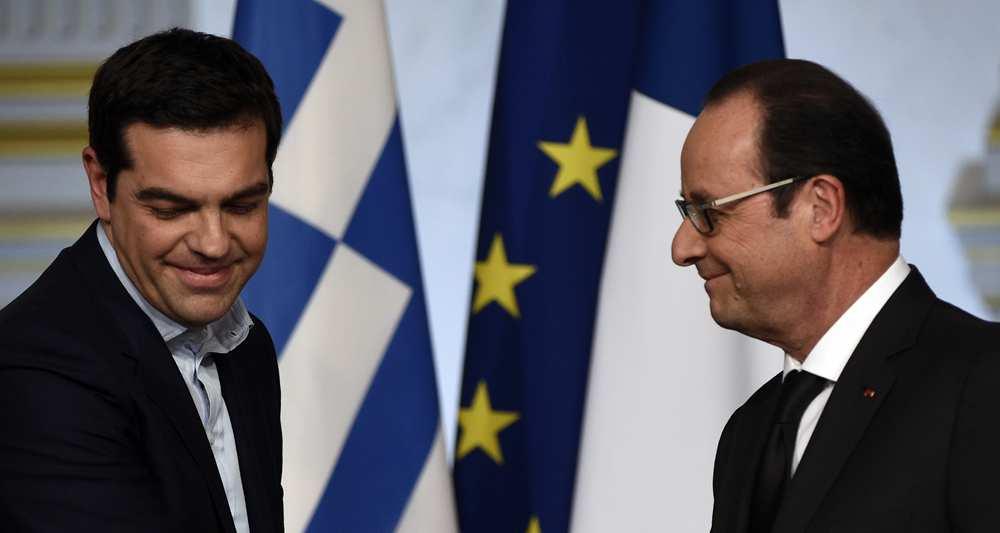Hollande et Tsipras à Paris le 4 février. Source: AFP